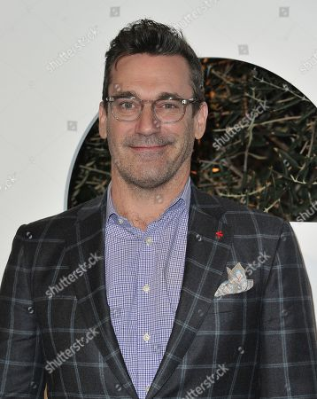 Jon Hamm arrives at GQ's Men of the Year Celebration, in West Hollywood, Calif