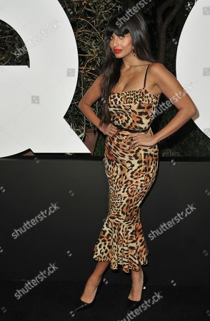 Jameela Jamil arrives at GQ's Men of the Year Celebration, in West Hollywood, Calif