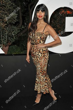 Stock Image of Jameela Jamil arrives at GQ's Men of the Year Celebration, in West Hollywood, Calif