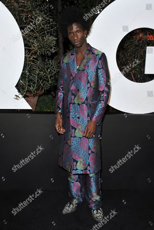 Adonis Bosso arrives at GQ's Men of the Year Celebration, in West Hollywood, Calif