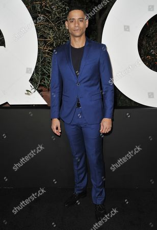 Charlie Barnett arrives at GQ's Men of the Year Celebration, in West Hollywood, Calif