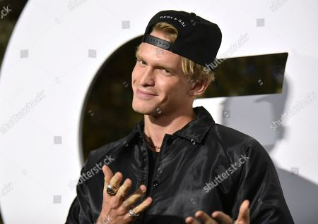 Cody Simpson arrives at GQ's Men of the Year Celebration, in West Hollywood, Calif
