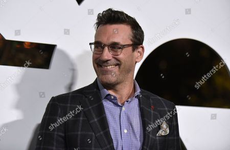 Stock Photo of Jon Hamm arrives at GQ's Men of the Year Celebration, in West Hollywood, Calif