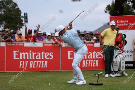 Paul Casey (ENG) tees off on the 3rd hole