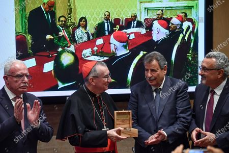 Editorial picture of Press conference at the Vatican on Church of the Nativity restoration and rehabilitation works, Vatican City, Vatican City State Holy See - 06 Dec 2019