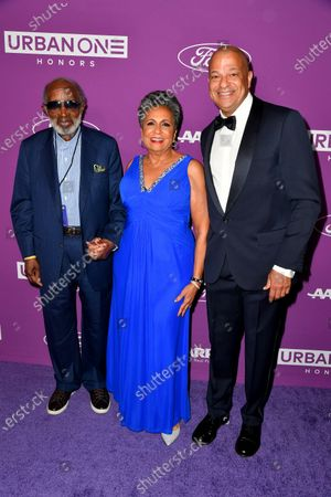 Clarence Avant, Urban One Founder & Chair Cathy Hughes and Urban One CEO Alfred Liggins III