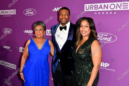 Urban One Cofounder & Chair Cathy Hughes, Co-Host Chris Tucker and TV One General Manager Michelle Rice