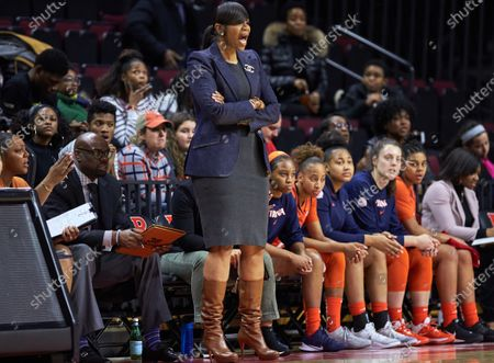 , 2019, Piscataway, New Jersey, USA: Virginia Cavaliers head coach Tina Thompson in the first half between the Virginia Cavaliers and the Rutgers Scarlet Knights at Rutgers Athletic Center in Piscataway, New Jersey. Rutgers defeated Virginia 73-63