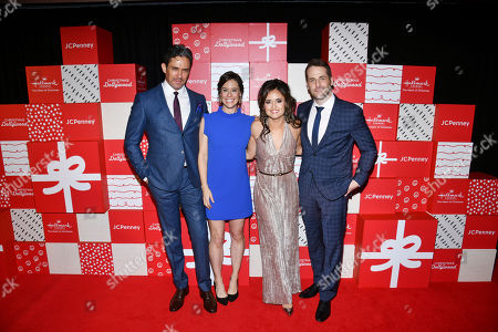 Stock Photo of Neal Bledsoe, Ashley Williams, Danica McKellar, Niall Matte. Actors Neal Bledsoe, from left, and Ashley Williams make an appearance at the world premiere of Christmas at Dollywood hosted by JCPenney and the Hallmark Channel with the film's co-stars Danica McKellar and Niall Matter at Village East Cinema, in New York. Christmas at Dollywood debuts on the Hallmark Channel Sunday, December 8 (8p.m. ET/PT, 7c