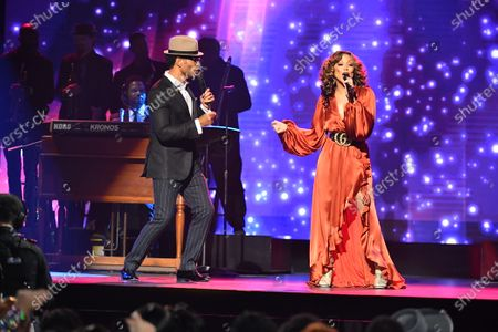 Stock Photo of Chante Moore and Eric Benet