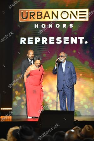 Clarence Avant and Cathy Hughes