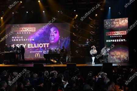 Stock Image of Lil Kim and Missy Elliott