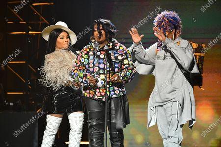 Stock Picture of Lil Kim, Missy Elliott and Da Brat