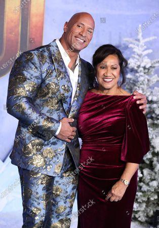 Stock Photo of Dwayne Johnson and Ata Johnson