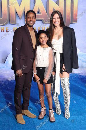 Stock Image of Jaleel White, Samaya White and Bridget Hardy