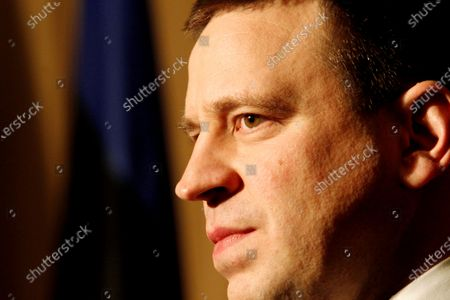 Estonia Prime Minister Juri Ratas poses for the media before meeting with Polish Prime Minister Matesz Morawiecki in Riga, Latvia, 06 December 2019. Issues related to regional security and the European Union will be raised during the meeting.