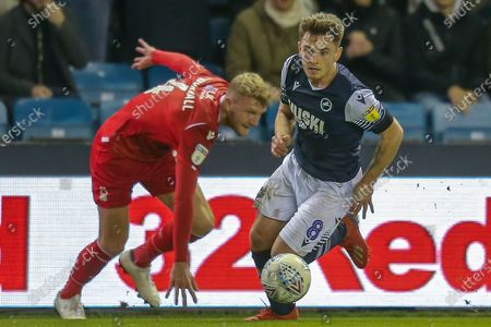 Stock Picture of Millwall midfielder Ben Thompson (8) during the EFL Sky Bet Championship match between Millwall and Nottingham Forest at The Den, London