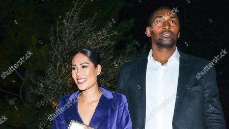 Maya Ford and Ron Artest Outside Edition Hotel