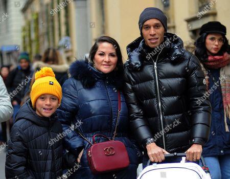 Stock Image of Joao Miranda, Jaqueline Miranda, son Lucas and newborn baby daughter Sara