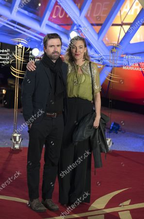 David Michod and his wife Mirrah Foulkes attend the tribute to US actor and director Robert Redford speaks (unseen) during the 18th annual Marrakech International Film Festival, in Marrakech, Morocco, 06 December 2019. The film festival runs from 29 November to 07 December 2019.