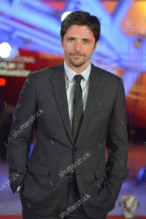 Raphael Personnaz attends the tribute to US actor and director Robert Redford speaks (unseen) during the 18th annual Marrakech International Film Festival, in Marrakech, Morocco, 06 December 2019. The film festival runs from 29 November to 07 December 2019.