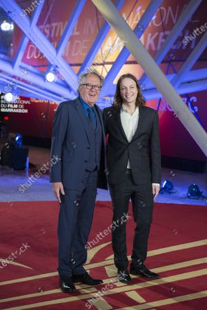 Geoffrey Rush and guest attend the tribute to US actor and director Robert Redford during the 18th annual Marrakech International Film Festival, in Marrakech, Morocco, 06 December 2019. The film festival runs from 29 November to 07 December 2019.