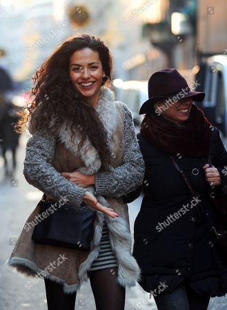 Laura Barriales shopping with a friend the Bottega Veneta boutique to buy a bag