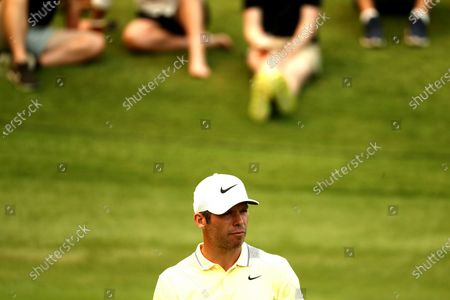 Paul Casey of Britain looks on during the round three of The Australian Open golf championship at The Australian Golf Club in Sydney, Australia, 07 December 2019.