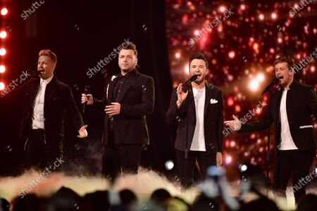 Stock Picture of Westlife - Nicky Byrne, Mark Feehily, Shane Filan and Kian Egan