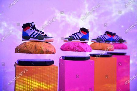 Editorial picture of Hebru Brantley Studio x Billionaire Boys Club x Adidas Originals at BBC Icecream Pop Up, Art Basel, Miami, USA - 05 Dec 2019