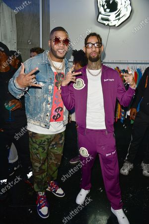 Stock Picture of Flo Rida and PnB Rock