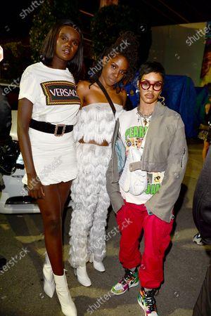 Duckie Thot, Elouinia Exantus and Teyana Taylor