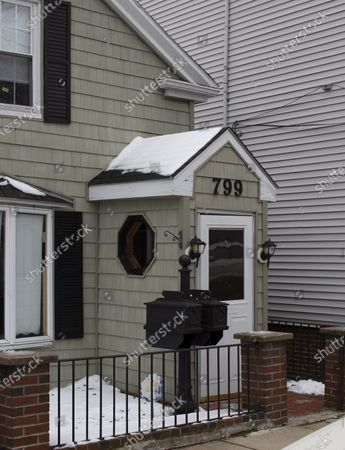 This home standing at 799 East Third Street in the South Boston neighborhood is said to be pending demolition, in Boston, Massachusetts, USA, 06 December 2019. In the 1908's the home was owned by a member of James 'Whitey' Bulger's gang, the Winter Hill Gang, and was referred to as 'The Haunty.' It was alleged that three of Bulger's murder victims, Arthur 'Bucky' Barrett, John McIntyre, and Deborah Hussey were all killed and buried in the dirt basement there by Bulger, then later exhumed and moved to another location in 1985.