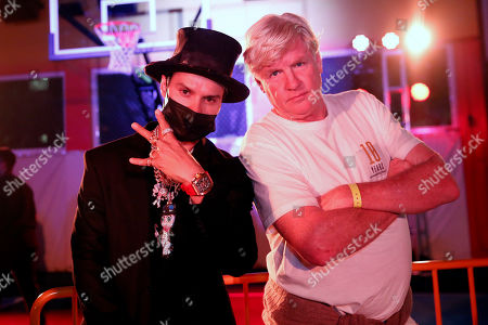 Peter Tunney, Alec Monopoly. In this, artist Alec Monopoly, left, and artist Peter Tunney, left, pose at LeBron James' new retail spot UNKNWN during Miami Art Week in Wynnwood, a neighborhood in Miami