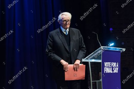 Michael Heseltine takes part in a rally at the Mermaid Theatre to encourage tactical voting in the upcoming general election and demand a public vote on the outcome of Brexit on 06 December, 2019 in London, England. The rally, organised by the Vote for a Final Say campaign and For our Future's Sake, takes place ahead of the last week of campaigning for the 12 December General Election.