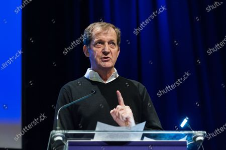 Alastair Campbell speech during a rally at the Mermaid Theatre to encourage tactical voting in the upcoming general election and demand a public vote on the outcome of Brexit on 06 December, 2019 in London, England. The rally, organised by the Vote for a Final Say campaign and For our Future's Sake, takes place ahead of the last week of campaigning for the 12 December General Election.