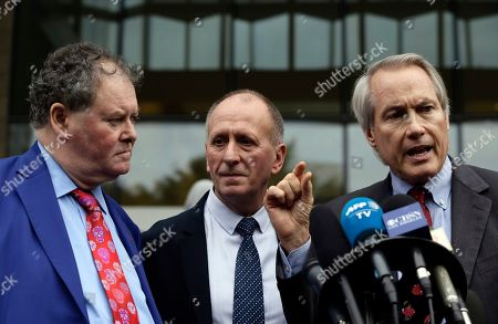 """Mark Stephens, Vernon Unsworth, L. Lin Wood. British cave explorer Vernon Unsworth, center, with his attorneys, Mark Stephens, left, and L. Lin Wood, right, take questions from the media outside Los Angeles U.S. District Court. A Los Angeles jury has found Elon Musk did not defame Unsworth when he called him """"pedo guy"""" in an angry tweet. Musk said the attack was unprovoked and he only meant the term as an insult for """"creepy old man"""" and wasn't literally calling Unsworth a pedophile"""