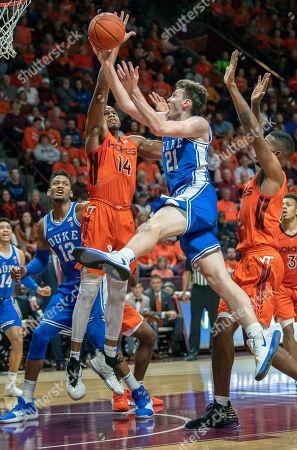 Editorial photo of Duke Virginia Tech Basketball, Blacksburg, USA - 06 Dec 2019