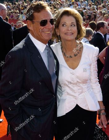 """Ron Leibman, Jessica Walter. Ron Leibman, left, with his wife Jessica Walter at the 57th Annual Primetime Emmy Awards in Los Angeles. Leibman, who appeared in movies, theater and television in a career that spanned six decades and won a Tony for Tony Kushner's iconic play """"Angels in America,"""" has died after an illness at age 82. Leibman's agent, Robert Attermann, said the actor died"""