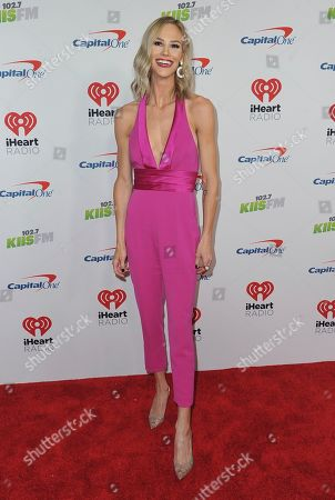 Meghan King Edmonds arrives at Jingle Ball, at the Forum in Inglewood, Calif