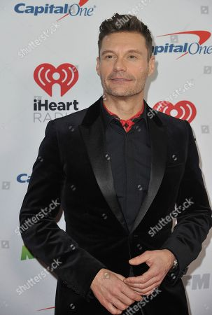 Ryan Seacrest arrives at Jingle Ball, at the Forum in Inglewood, Calif