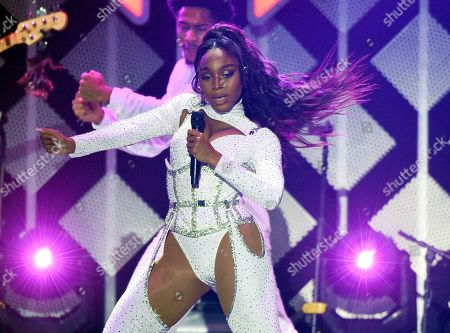 Normani, Normani Kordei Hamilton. Normani performs during the 2019 KIIS-FM Jingle Ball concert at The Forum, in Inglewood, Calif