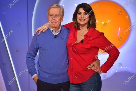 Elisa Isoardi and Claudio Lippi