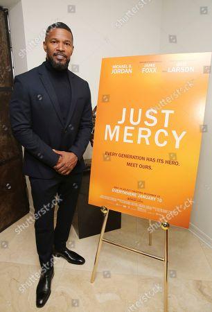 "Jamie Foxx seen at the ""Just Mercy"" Tastemaker Screening, in Los Angeles"