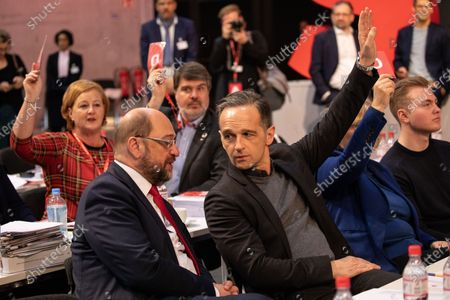 Editorial image of SPD party convention venue tour, Berlin, Germany - 07 Dec 2019