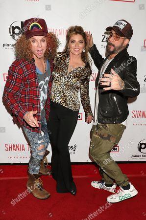 Scott Thompson, Shania Twain, AJ McLean