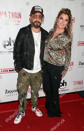 Stock Picture of AJ McLean, Shania Twain