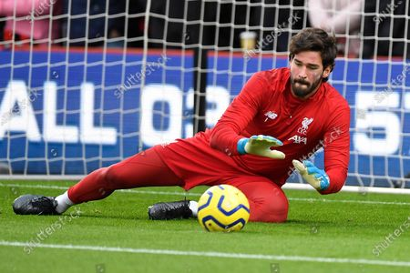 Alisson Becker of Liverpool during AFC Bournemouth vs Liverpool, Premier League Football at the Vitality Stadium on 7th December 2019
