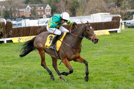 Defi Du Seuil and Barry Geraghty [right] win the Betfair Tingle Creek Chase at Sandown from Un De Sceaux.