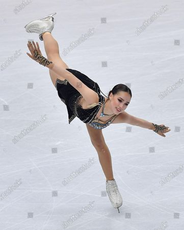 Alina Zagitova of Russia performs in the ice dance program during the ISU Grand Prix of Figure Skating Final at the Palavela indoor stadium in Turin, Italy, 07 December 2019.